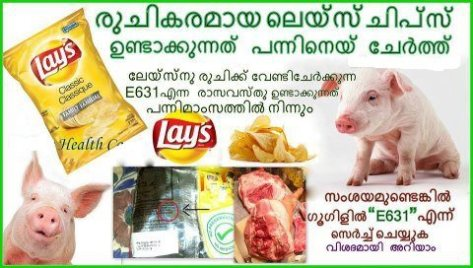 chips use pig fat, search google for the E631 code to find out more,